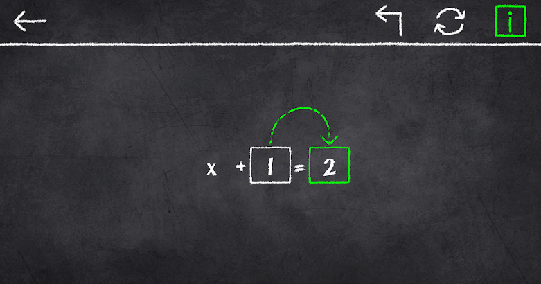 x=1: Learn to solve equations!- screenshot thumbnail