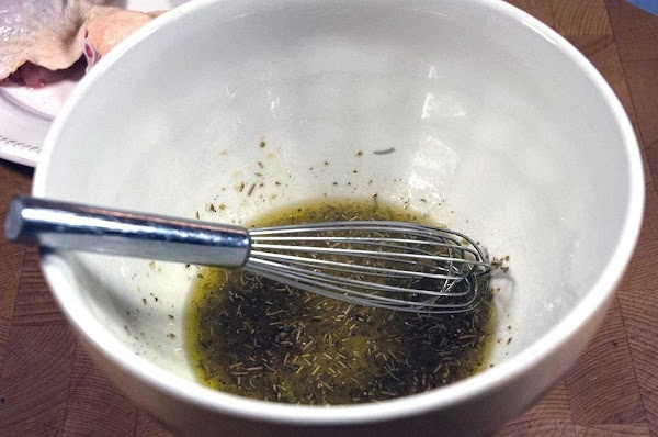 Mix all the marinade ingredients together in a small bowl, or Ziploc bag.
