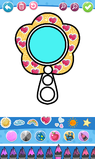 Glitter Beauty Accessories Coloring and drawing  Wallpaper 8