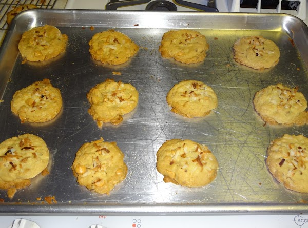 Bake 12-14 minutes or until toothpick inserted into center of cookie pulls out clean.