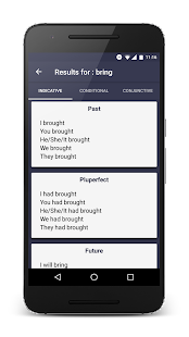 Verb 2 Verb - English Verb Forms Screenshot