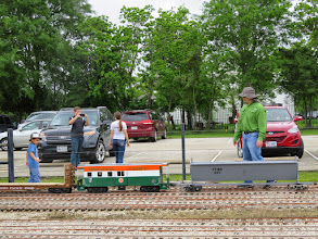 Photo: Cinco on the left is helping Tomas Sandoval get their caboose out.    HALS Public Run Day 2015-0418 RPW