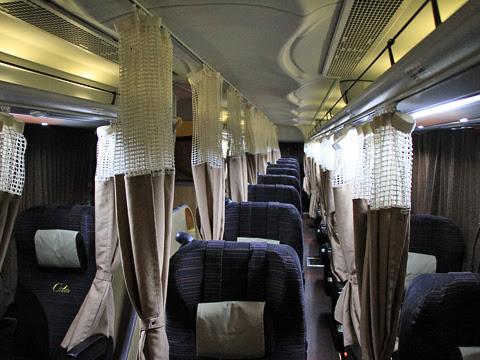 西日本JRバス「百万石ドリーム広島号」 車内
