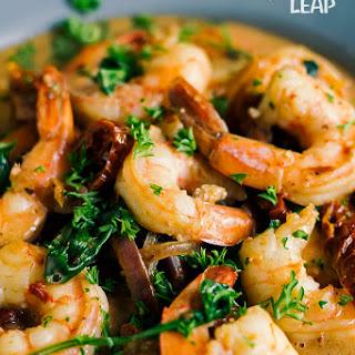 Keto Tuscan-Style Shrimp.
