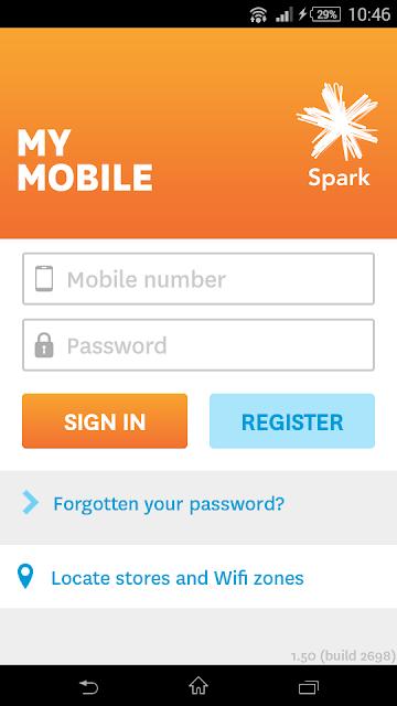 Spark NZ screenshots