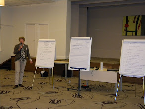 Photo: Presentaties na afloop van de intervisie.