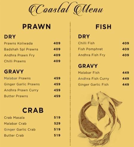 Biryani Badshah menu 4
