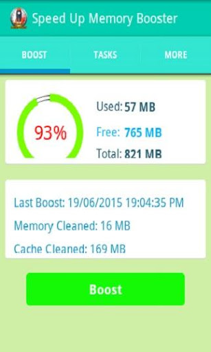 Speed up Memory Booster