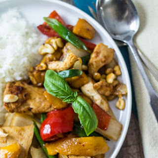 Thai Mango Chicken Stir Fry.