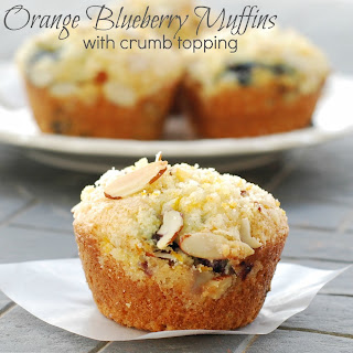 Orange Blueberry Streusel Muffins