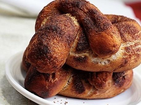 Variation:  Sprinkle with Sugar and Cinnamon for that sweet pretzel taste.