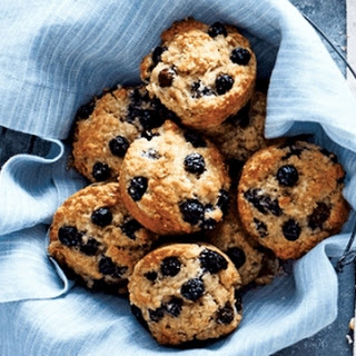 Blueberry Banana Oat Breakfast Muffins.
