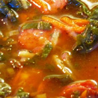 Leek, Swiss Chard & Chorizo Soup