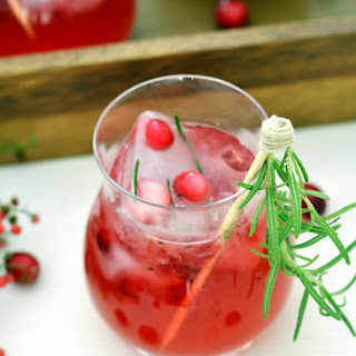 Cranberry Gin Cocktail with Rosemary Simple Syrup
