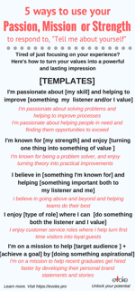 5 ways to answertell me about yourself using your passion click the picture to download the infographic ccuart Gallery