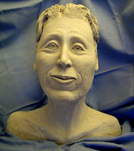 "Photo: Esta Bust - 16"" tall- hi fire ceramic clay - unglazed"