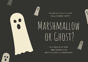 Marshmallow or Ghost? - Halloween Template