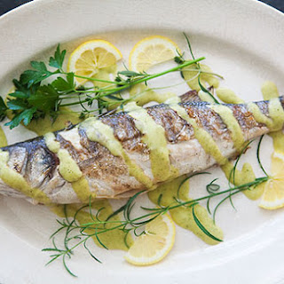Grilled Branzino with Rosemary Vinaigrette