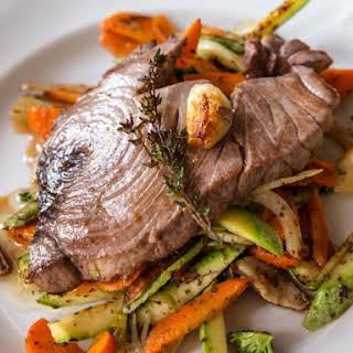 Grilled Yellow Fin Tuna Steak.