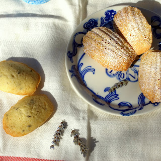 LAVENDER AND HONEY MADELEINES.