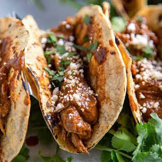 Instant Pot Chicken Mole Tacos.