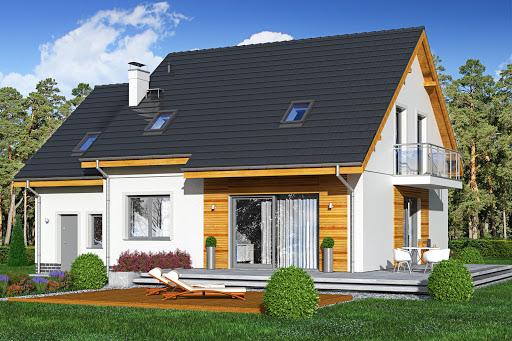 projekt Jaskółka 4 z garażem
