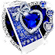 Shiny Blue Glitter Heart Theme for PC-Windows 7,8,10 and Mac