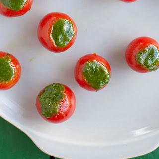 Cherry Tomatoes Stuffed with Pesto