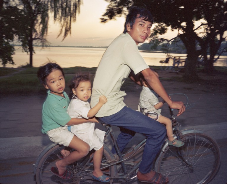 Motorbike and Bicycles Going Home, 1987