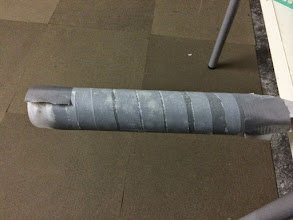 Photo: Wrapped PVC pipe for air vent inlets.
