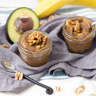 Vegan Avocado Chocolate Pudding with Candied Walnuts