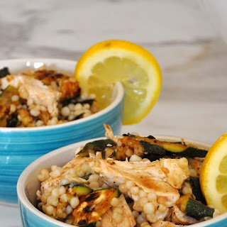 Grilled Chicken and Zucchini Couscous Salad