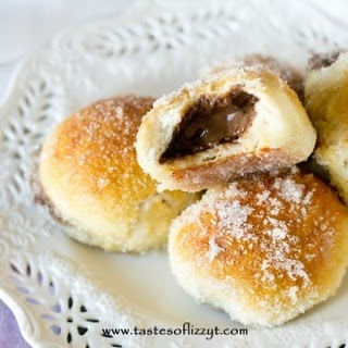 Nutella Stuffed Pretzel Doughnuts