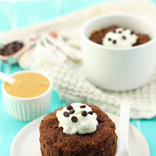 Healthy Peanut Butter Chocolate Mug Cake Recipe
