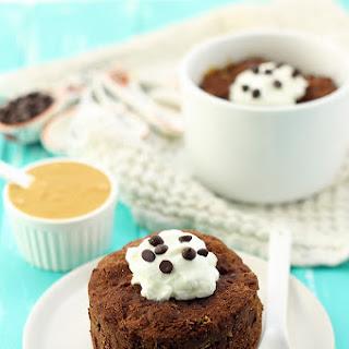 Healthy Peanut Butter Chocolate Mug Cake.