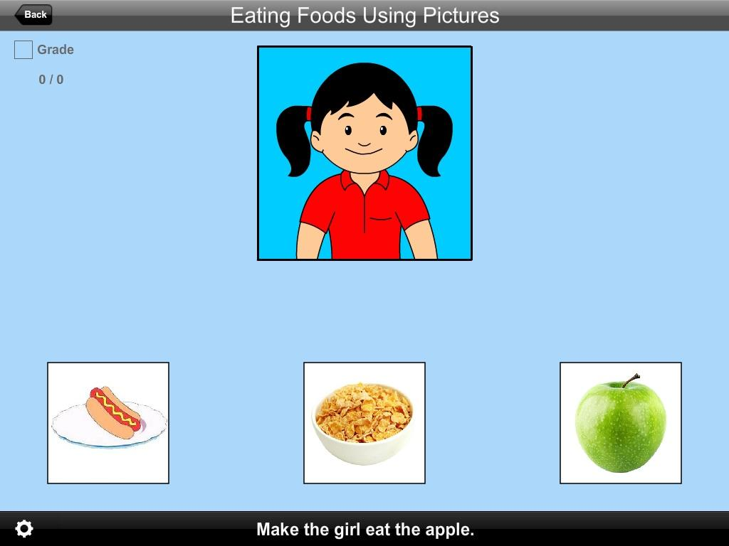 Eating Foods Using Pictures Lite Version- screenshot