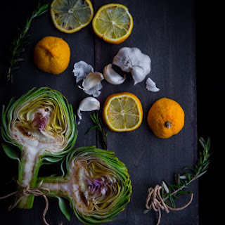 How To Make Roasted Whole Artichoke And Garlic (about 1 Cup).