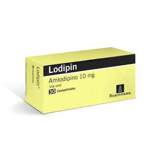 Amlodipin Lodipin 10 mg x 30 Comprimidos Roemmers