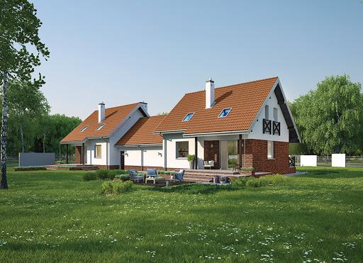 projekt Dom na rozstaju - wariant III (bliźniak) - BCC214c