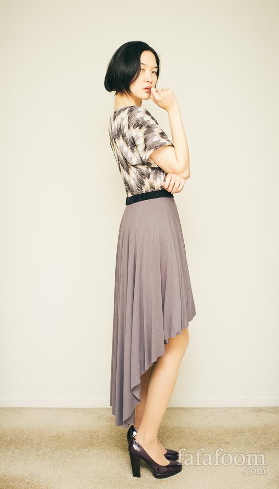 DIY High-Low Dress - DIY Fashion Garments   fafafoom.com