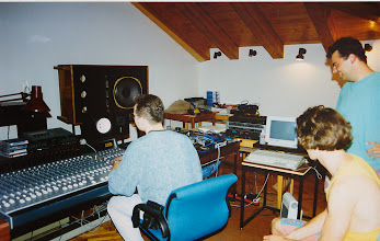 Photo: In the recording studio where Zmelcoow recorded their first album, in Piran, Slovenia