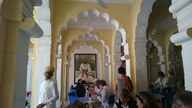 Photo: restaurant in the jodhpur fort