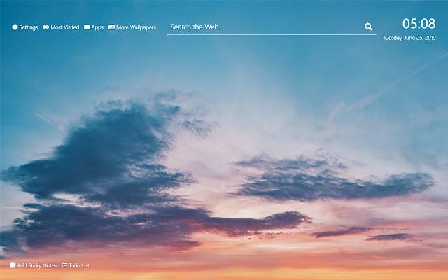 Cloudy Sky Wallpaper HD New Tab Theme©