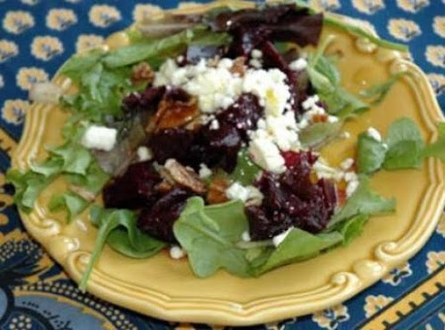 Roasted Beet, Goat Cheese and Pecan Salad