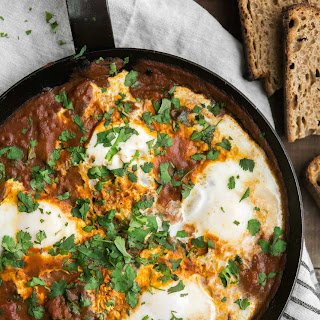 Curried Eggs with Spinach
