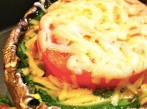 Italian Style Portobello Mushroom And Spinach Bake Recipe