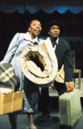 CITY BECKONS: Nqobile Sepamla and Siyabonga Twala in 'The Suitcase'. © Sowetan.