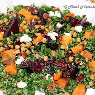 Kale, Quinoa 'n Roasted Beet Salad with Maple-Cider Vinaigrette.