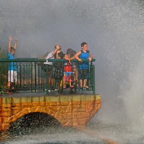 Enjoying the Spray by Carl Testo - People Street & Candids ( water, spray, busch, children, summer )