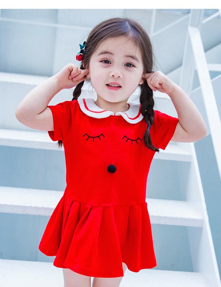 Sukienka z kołnierzykiem dla dziewczynki
